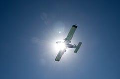 Flugzeugeklipse Stockfoto