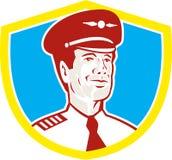 Flugzeugführer-Flieger Shield Retro Stockfotografie