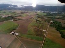 Flugzeugfensteransicht stockfoto