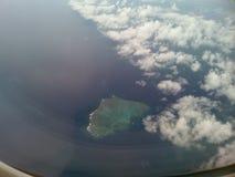 Flugzeugfensteransicht stockbild