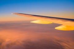 Flugzeugflügel Stockbild