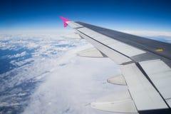 Flugzeugflügel Stockfotografie