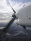 Flugzeugflügel Stockfotos