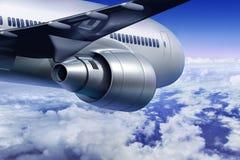 Flugzeugfliegen lizenzfreies stockbild