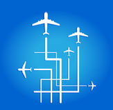 Flugzeugfliegen Stockfotos
