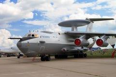 Flugzeugfrühwarnungs- und -steuerflugzeuge A-50 auf dem codific Lizenzfreie Stockfotos