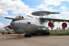 Flugzeugfrühwarnungs- und -steuerflugzeuge A-50 auf dem codific Lizenzfreies Stockbild