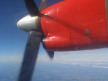 Flugzeuggebläse mit 4 Blättern stockbilder