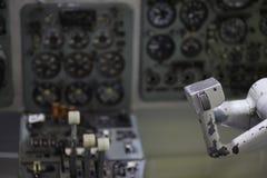 Flugzeughelm Stockfoto