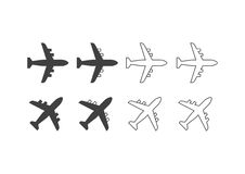 Flugzeugikonen Lizenzfreies Stockbild