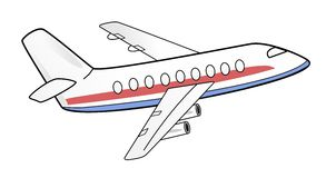 Flugzeugillustration Stockfotos