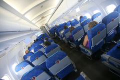 Flugzeuginnenraum Stockfoto