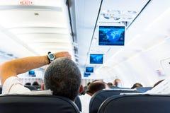 Flugzeuginnenraum Lizenzfreies Stockfoto