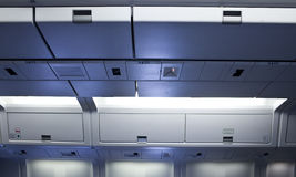 Flugzeuginnenraum stockfotos