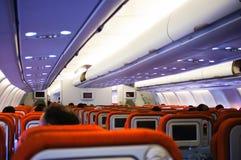 Flugzeuginnenraum Aeroflots A330 Stockfotos