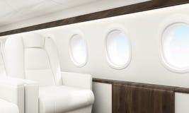 Flugzeuginnenraumhimmel Lizenzfreie Stockfotografie