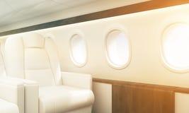 Flugzeuginnenraumtonen Lizenzfreie Stockfotos