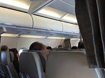 Flugzeugkabine Lizenzfreie Stockbilder