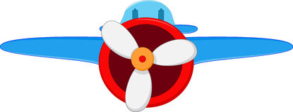 Flugzeugkarikatur Lizenzfreie Stockfotografie