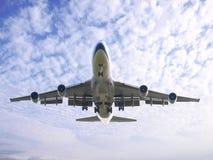 Flugzeuglandung lizenzfreie stockfotos