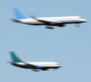 Flugzeuglandung Stockbild