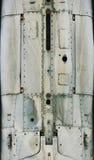 Flugzeugmetalloberfläche mit Aluminium und Nieten Lizenzfreie Stockbilder