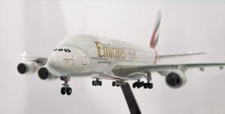 Flugzeugmodell Airbusses A380 lizenzfreies stockfoto