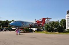 Flugzeugmonument Stockfotografie