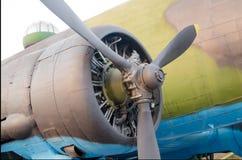 Flugzeugmotor stockfoto