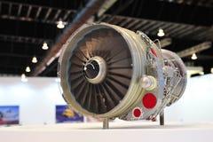 Flugzeugmotor auf Anzeige am St.-Technikstand in Singapur Airshow 2012 Lizenzfreies Stockfoto