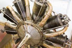 Flugzeugmotor im zentralen Haus von Luftfahrt und von Cosmonautic lizenzfreies stockfoto