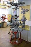 Flugzeugmotor im zentralen Haus von Luftfahrt und von Cosmonautic stockbild