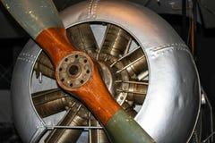 Flugzeugmotor Kampfflugzeug des Ersten Weltkrieges Stockbilder