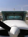 Flugzeugmotor und Stütze stockfotografie