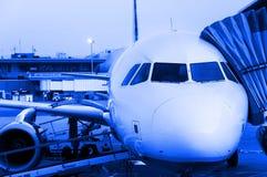 Flugzeugnahaufnahme Stockfotos
