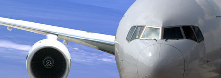Flugzeugnahaufnahmeabbildung Stockfotos