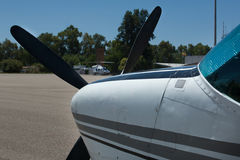 Flugzeugnase Stockfotografie
