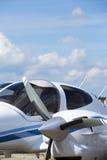 Flugzeugpropeller im Sonnenschein lizenzfreie stockfotos