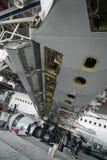 Flugzeugreparatur und -modernisierung Stockfoto