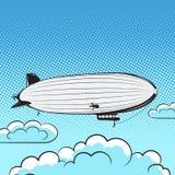 Flugzeugretrostil-Pop-Arten-Luft Lizenzfreies Stockfoto