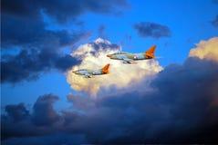 Flugzeugshow Lizenzfreie Stockfotografie