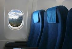 Flugzeugsitz und -fenster Lizenzfreies Stockbild