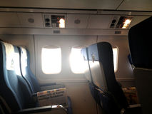 Flugzeugsitze Stockfotografie