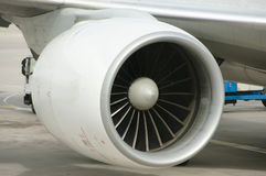 Flugzeugstrahltriebwerk Stockfotografie