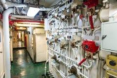 Flugzeugträgerkorridor Stockbild