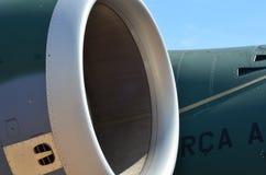 Flugzeugturbinendetail Fan- und Kegelsystem lizenzfreie stockbilder