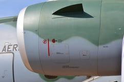 Flugzeugturbinendetail Fan- und Kegelsystem stockfotografie