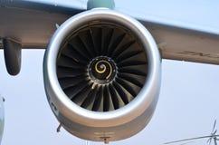 Flugzeugturbinendetail Fan- und Kegelsystem lizenzfreie stockfotografie