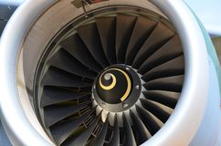 Flugzeugturbinendetail Fan- und Kegelsystem lizenzfreies stockbild