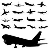 Flugzeugvektor Lizenzfreie Stockbilder